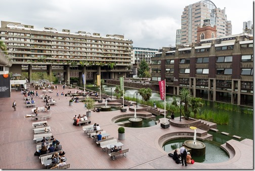 Barbican Centre lakeside terrace during Wikimania 2014